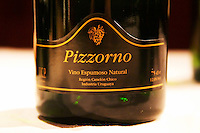 Pizzorno Vino Espumoso Natural, sparkling wine from Canelones Canelon Chico Uruguay Montevideo, Uruguay, South America Uruguay wine production institute Instituto Nacional de Vitivinicultura INAVI