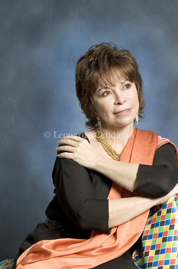 Milan, Italy, February 2006. The Chilean writer Isabel Allende born in Lima (Perù). 'The House of the Spirits' is one of her most successful books. President of Chile Salvador Allende, was her fahter's cousin.