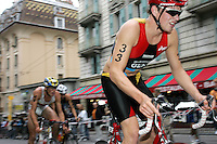 20 AUG 2005 - LAUSANNE, SWITZERLAND - Rene Goehler (GER) - Elite Mens European Triathlon Championships. (PHOTO (C) NIGEL FARROW)