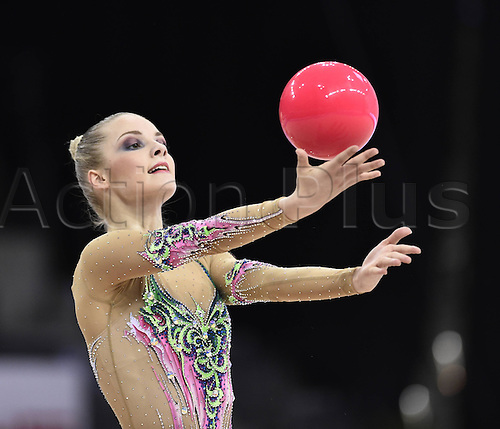 22.03.2014 Stuttgart, Germany. RSG Gazprom Rythmic Gymnastics World Cup 2014. Laura Jung (GER)