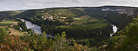 Europe/France/Midi-Pyrénées/46/Lot/Saint-Géry: Panorama sur la vallée du Lot