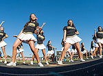 Palos Verdes, CA 10/24/14 - Palos Verdes Peninsula Song and Cheer teams in action during the Redondo Union vs Palos Verdes Peninsula CIF Varsity Football game.