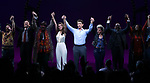 Jason Danieley, Eric Anderson, Samantah Barks, Andy Karl, Orfeh, Ezra Knight and cast during the Curtain Call for the Garry Marshall Tribute Performance of 'Pretty Woman:The Musical' at the Nederlander Theatre on August 2, 2018 in New York City.