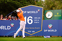 Matthew Fitzpatrick (ENG) on the 16th tee during the 1st round of the DP World Tour Championship, Jumeirah Golf Estates, Dubai, United Arab Emirates. 21/11/2019<br /> Picture: Golffile | Fran Caffrey<br /> <br /> <br /> All photo usage must carry mandatory copyright credit (© Golffile | Fran Caffrey)
