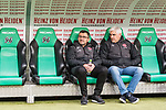 09.02.2019, HDI Arena, Hannover, GER, 1.FBL, Hannover 96 vs 1. FC Nuernberg<br /> <br /> DFL REGULATIONS PROHIBIT ANY USE OF PHOTOGRAPHS AS IMAGE SEQUENCES AND/OR QUASI-VIDEO.<br /> <br /> im Bild / picture shows<br /> Michael K&ouml;llner / Koellner (Trainer 1. FC Nuernberg) mit Wasserflasche und Andreas Bornemann (Vorstand Sport 1. FC Nuernberg) auf Trainerbank vor dem Spiel,<br /> <br /> Foto &copy; nordphoto / Ewert