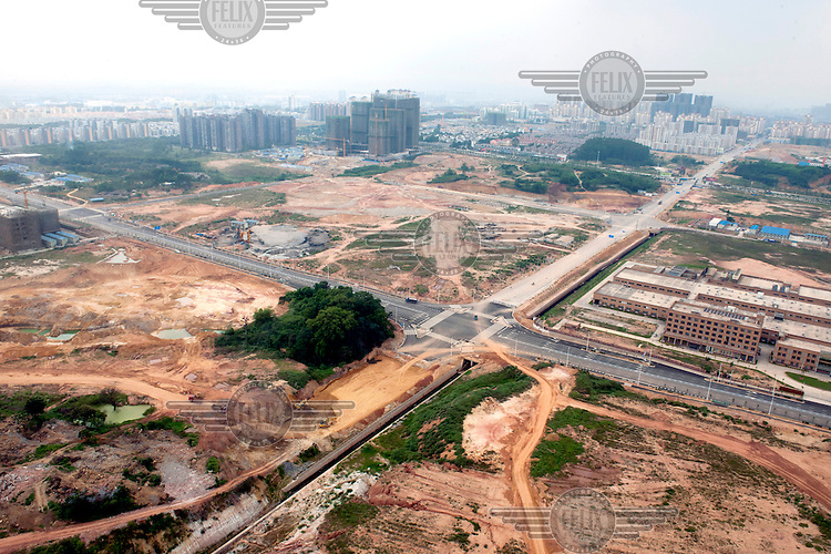 reas cleared for redevelopment on the outskirts of Nanning. /Felix Features