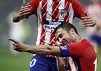 Club Atletico de Madrid's Gabi celebrates after scoring during the UEFA Europa League final football match between Olympique de Marseille and Club Atletico de Madrid at the Groupama Stadium in Decines-Charpieu, near Lyon, France, May 16, 2018.<br /> UPDATE IMAGES PRESS/Isabella Bonotto