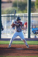 Valen Solano (11) of Endeavor Academy in Centennial, Colorado during the Baseball Factory All-America Pre-Season Tournament, powered by Under Armour, on January 13, 2018 at Sloan Park Complex in Mesa, Arizona.  (Zachary Lucy/Four Seam Images)