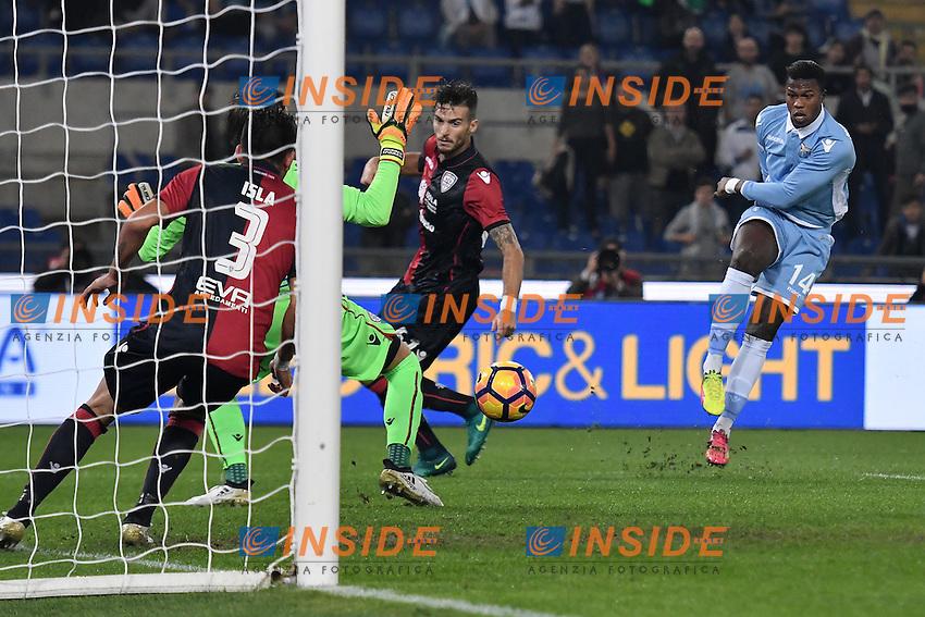 Gol Keita Balde Diao Lazio Goal celebration <br /> Roma 26-10-2016  Stadio Olimpico <br /> Football Calcio Serie A 2016/2017 Lazio - Cagliari <br /> Foto Andrea Staccioli / Insidefoto