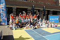 21-9-06,Leiden, Tennis,  Daviscup, streettennis with the Dutch team