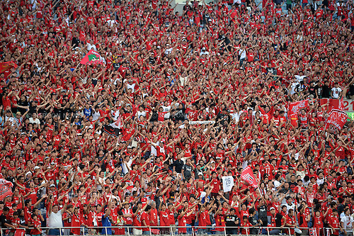Urawa Reds fans,<br /> AUGUST 16, 2014 - Football / Soccer :<br /> 2014 J.League Division 1 match between Urawa Red Diamonds 1-0 Sanfrecce Hiroshima at Saitama Stadium 2002 in Saitama, Japan. (Photo by AFLO)