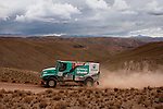 Car racer Gerard De Rooy from Holland driving his Iveco truck during the 5th stage of the Dakar Rally 2016 in the Bolivian Altiplano.