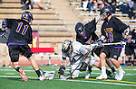 San Diego, CA 05/25/13 - Jack Beetham (Carlsbad #13), Carrigan Henkel (Westview #9) and John Rankin (Westview #4) in action during the 2013 Boys Lacrosse San Diego CIF DIvision 1 Championship game.  Westview defeated Carlsbad 8-3.