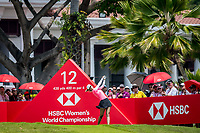 Michelle Wie of USA in act during the HSBC Women's World Championship 2018 at Sentosa Golf Club, Sentosa,, Singapore, on 4  March 2018, Singapore.  Photo by : Ike Li / Prezz Images
