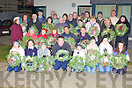 MAKING IT A HAPPIER CHRISTMAS: Members of the Kerry Diocesan Youth Service Mitchel's Youth (MY) Project presented forty-one Christmas wreaths to the residents of Tobair Naoifa in Tralee which they handmade themselves.