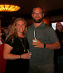 Waterbury, CT 042319MK17 (from left) Ashley and Tom Albanese gathered for the during the third annual UNICO meatball contest at the Palace Theatre Tuesday evening.  Francine Nido, national secretary, said this was the third year for the event with eleven local restaurants participating and two-hundred twenty-five pre-paid ticket holders along with many hungry people paying at the door.  Nido stated that the funds raised during this contest will benefit local scholarships and charities.   Michael Kabelka / Republican-American