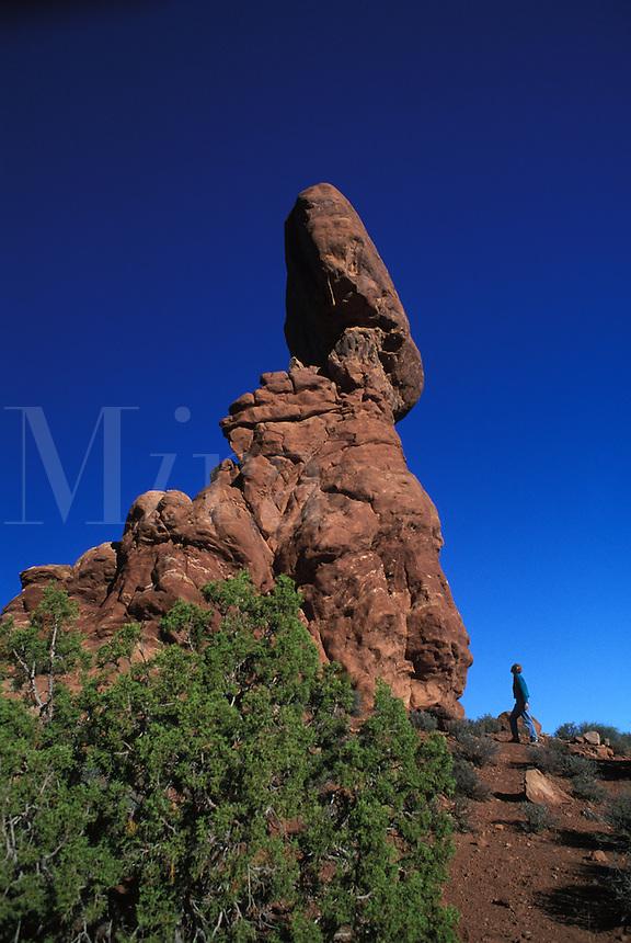 Balanced Rock Sandstone Formation at Arches National Park, Utah