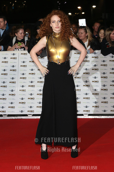 Jess Glynne arriving for The MOBO Awards 2014 held at Wembley Arena, London. 22/10/2014 Picture by: James Smith / Featureflash