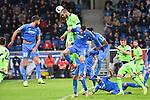 01.12.2018, wirsol Rhein-Neckar-Arena, Sinsheim, GER, 1 FBL, TSG 1899 Hoffenheim vs FC Schalke 04, <br /> <br /> DFL REGULATIONS PROHIBIT ANY USE OF PHOTOGRAPHS AS IMAGE SEQUENCES AND/OR QUASI-VIDEO.<br /> <br /> im Bild: Nabil Bentaleb (FC Schalke 04 #10) gegen Kerem Demirbay (TSG Hoffenheim #10) und Andrej Kramaric (TSG Hoffenheim #27)<br /> <br /> Foto © nordphoto / Fabisch