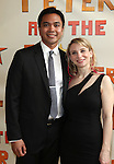 Jose Llana, Sarah Saltzberg.attendingthe Broadway Opening Night Performance of 'Peter And The Starcatcher' at the Brooks Atkinson Theatre on 4/15/2012 in New York City.