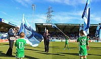 Bill Turnbull presents the teams pre match during the Sky Bet League 1 match between Wycombe Wanderers and Southend United at Adams Park, High Wycombe, England on 29 September 2018. Photo by Kevin Prescod / PRiME Media Images.