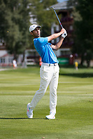 Jack Singh Brar (ENG) in action on the 17th hole during final round at the Omega European Masters, Golf Club Crans-sur-Sierre, Crans-Montana, Valais, Switzerland. 01/09/19.<br /> Picture Stefano DiMaria / Golffile.ie<br /> <br /> All photo usage must carry mandatory copyright credit (© Golffile | Stefano DiMaria)