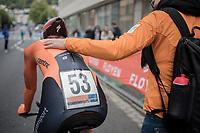 Anna van der Breggen (NED/Boels-Dolmans) post-finish<br /> <br /> Women Elite Individual Time Trial<br /> <br /> UCI 2017 Road World Championships - Bergen/Norway