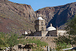San Javier Mission, one of the best preserved Spanish Mission churches anywhere on the Baja California Peninsula.  Gulf of California, Baja California, Mexico
