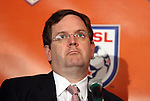 12 April 2012: MLS President Mark Abbott. The Carolina RailHawks held a Fan Forum at Backyard Bistro in Raleigh, NC.
