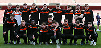 Blackpool U18's line up for a squad photo before the match<br /> <br /> Photographer Andrew Kearns/CameraSport<br /> <br /> Emirates FA Youth Cup Semi- Final Second Leg - Arsenal U18 v Blackpool U18 - Monday 16th April 2018 - Emirates Stadium - London<br />  <br /> World Copyright &copy; 2018 CameraSport. All rights reserved. 43 Linden Ave. Countesthorpe. Leicester. England. LE8 5PG - Tel: +44 (0) 116 277 4147 - admin@camerasport.com - www.camerasport.com