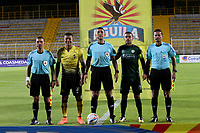 BOGOTA - COLOMBIA - 31 - 07 - 2017: Diego Rendón Parra referee central. Acción de juego  durante partido entre La Equidad y Alianza Petrolera ,  por la fecha 5 de la Liga Aguila II-2017, jugado en el estadio Metropolitano de Techo de la ciudad de Bogota. / Central referee Diego Rendon Parra.Action game between Equidad and Alianza Petrolera, for the  date 5nd of the Liga Aguila II-2017 at the Metropolitano de Techo Stadium in Bogota city, Photo: VizzorImage  /Felipe Caicedo / Staff.