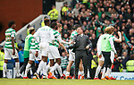 11.3.2018 Rangers v Celtic:<br /> Brendan Rodgers at full time