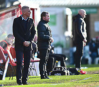Northampton Town manager Keith Curle shouts instructions to his team from the technical area<br /> <br /> Photographer Andrew Vaughan/CameraSport<br /> <br /> The EFL Sky Bet League Two - Lincoln City v Northampton Town - Saturday 9th February 2019 - Sincil Bank - Lincoln<br /> <br /> World Copyright &copy; 2019 CameraSport. All rights reserved. 43 Linden Ave. Countesthorpe. Leicester. England. LE8 5PG - Tel: +44 (0) 116 277 4147 - admin@camerasport.com - www.camerasport.com