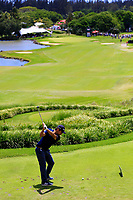 Roman Langasque (FRA) in action during the final round of the Afrasia Bank Mauritius Open played at Heritage Golf Club, Domaine Bel Ombre, Mauritius. 03/12/2017.<br /> Picture: Golffile   Phil Inglis<br /> <br /> <br /> All photo usage must carry mandatory copyright credit (&copy; Golffile   Phil Inglis)