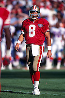 SAN FRANCISCO, CA - Quarterback Steve Young of the San Francisco 49ers in action during a game at Candlestick Park in San Francisco, California in 1994. Photo by Brad Mangin