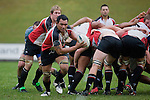 Taiasina Tuifua takes the ball from the back of a scrum. Air New Zealand Cup pre-season rugby game between the Counties Manukau Steelers & Northland, played at Growers Stadium on July 21st, 2007. Counties Manukau won 28 - 17.