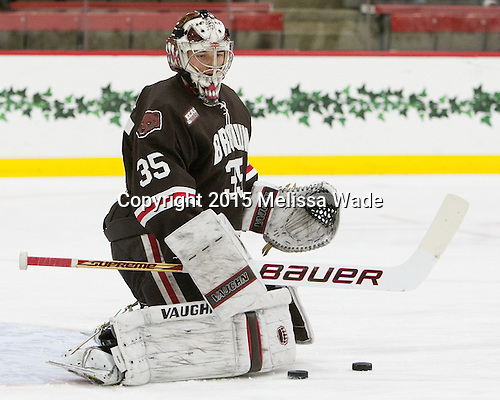 Tyler Steel (Brown - 35) - The Harvard University Crimson defeated the Brown University Bears 4-3 to sweep their first round match up in the ECAC playoffs on Saturday, March 7, 2015, at Bright-Landry Hockey Center in Cambridge, Massachusetts.