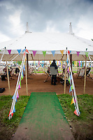 Tuesday 27 May 2014, Hay on Wye, UK<br /> Pictured: View of the Festival site at Hay <br /> Re: The Hay Festival, Hay on Wye, Powys, Wales UK.