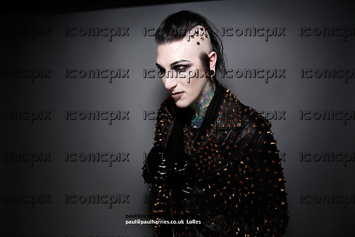 Motionless in White - vocalist Chris Cerulli - photosession in London UK - 07 Mar 2017.  Photo credit: Paul Harries/IconicPix **LO-RES IMAGE** **NOT AVAILABLE FOR UK MUSIC PUBLICATIONS**