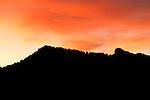 Sunset in Patagonia, Argentina.