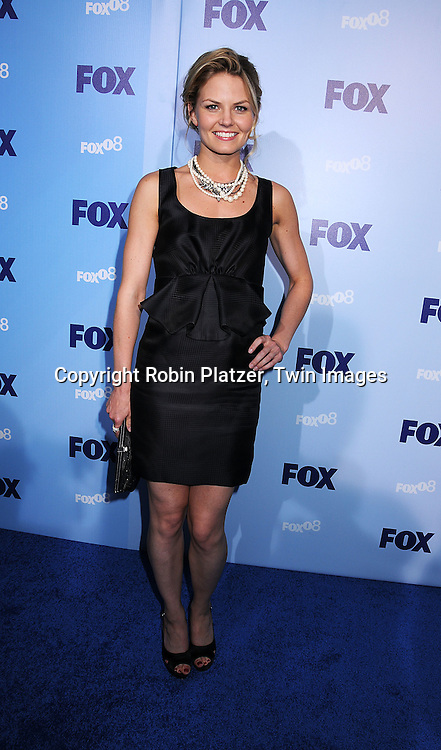 """Jennifer Morrison of """"House"""" in Zac Posen dress..posing for photographers at the FOX Upfront 2008 programming presentation on May 15, 2008 at Wollman Rink in Central Park in  New York City.....Robin Platzer, Twin Images"""