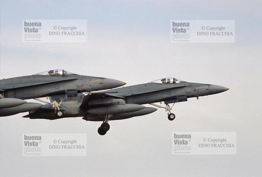 - CF 18 fighter planes, Canadian Air Force<br /> <br /> - aerei da caccia CF 18 , aeronautica militare Canadese