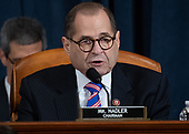 United States Representative Jerrold Nadler (Democrat of New York), Chairman, US House Judiciary Committee speaks during a House Judiciary Committee hearing on the impeachment of US President Donald Trump on Capitol Hill in Washington, DC, December 4, 2019.<br /> Credit: Saul Loeb / Pool via CNP