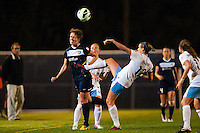 Chicago Red Stars midfielder Leslie Osborne (12) battle sSky Blue FC midfielder Sophie Schmidt (16) for the ball. Sky Blue FC and the Chicago Red Stars played to a 1-1 tie during a National Women's Soccer League (NWSL) match at Yurcak Field in Piscataway, NJ, on May 8, 2013.