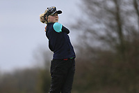 Louise Burke (England) during the second round of the Irish Girls' Open Stroke Play Championship, Roganstown Golf Club, Swords, Ireland. 14/04/2018.<br /> Picture: Golffile | Fran Caffrey<br /> <br /> <br /> All photo usage must carry mandatory copyright credit (&copy; Golffile | Fran Caffrey)