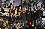 HOLLYWOOD, CA - MARCH 20: Tommy Thayer, Gene Simmons, Eric Singer, Paul Stanley of Kiss and Vince Neil Nikki Sixx, Mick Mars and Tommy Lee of Motley Crue attend the 'Kiss, Motley Crue: The Tour' Press Conference at Hollywood Roosevelt Hotel on March 20, 2012 in Hollywood, California.
