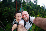 Allison and I on the canopy walk at the Borneo Rainforest Lodge on Sunday April 28th 2013 in Malaysia. (Photo by Brian Garfinkel)