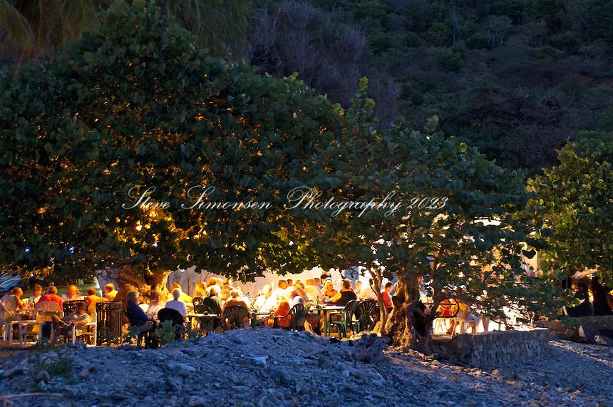 Miss Lucy's Restaurant.Full  Moon Party / Pig Roast.St John, Virgin Islands