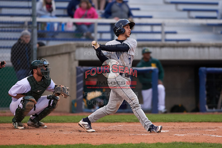 Lake County Captains third baseman Jesse Berardi (17) during a Midwest League game against the Beloit Snappers at Pohlman Field on May 6, 2019 in Beloit, Wisconsin. Lake County defeated Beloit 9-1. (Zachary Lucy/Four Seam Images)