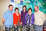 AGM: Attending the Kerry IFA annual general meeting at the Manor West hotel, Tralee on Monday l-r: Con O'Shea, Eileen O'Sullivan and Bernadette O'Driscoll, Valentia, Margaret Moran, Ballinskelligs and Anthony O'Sullivan, Valentia.